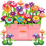 Fivejoy 134PCS Juguetes de Construcción para Jardín de Flores, Jardín Flores Playset Regalos, Juguetes de Construcción de Jar