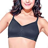 Enamor AB75 M-Frame Jiggle Control Full Support Supima Cotton Bra - Non-Padded Wirefree Full Coverage