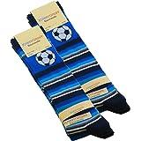 Cotton Prime 6 pares Calcetines hasta la rodilla para niño con de fútbol