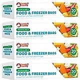 Keep It Handy - Bolsas de plástico para alimentos y congeladores, 80 unidades, grado FDA, fáciles de lavar y congelar, aptas