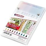 edding 4-4600-10 Textilmarker 4600, Rundspitze, 1 mm, sortiert