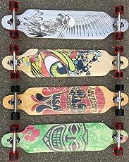 BUSDUGA Longboard 104 x 24cm Skateboard aus Ahornholz, HQ-Kugellager ABEC 11 High-Speed, wählen Sie ihr Design