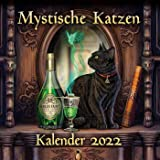 Mystische Katzen Kalender 2022: Wandkalender/Broschürenkalender 30 x 30 cm