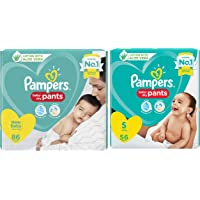 Pampers Diaper Pants, Baby, 86 Count & Pampers Diapers Pants, Small, 56 Count