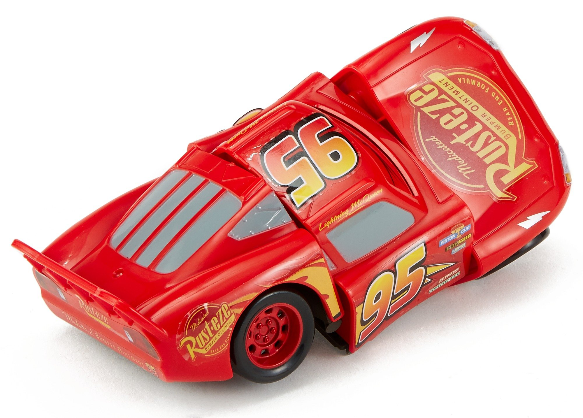 Disney DYW39 Pixar Cars 3 Race and Reck Lightning McQueen Vehicle Disney New Disney Pixar Cars 3 Twisted Crashers vehicle.  His body twists and his eyes change after the crash!  Restore him to his former; pre smash glory by simply twisting the car back into place! 5