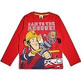 Fireman Sam Al Rescate Niños de Manga Larga Camiseta | mercancía Oficial | Edad 1-6, Ropa para niños, Rojo niños Arriba, de t