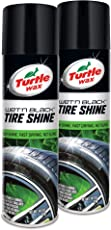 Turtle Wax 50822 Wet'N Black Tire Shine Aerosol, 2-Pack