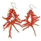 Sanna Gioielli Orecchini con frammenti di corallo rosso