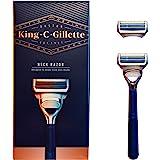 King C. Gillette Neck Razor, Handle plus 2 Blade Refills