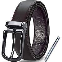 Lubardy Cintura Uomo Pelle Elegante Casual Formali,Cinture Uomo Pelle Regolabile Cinta con Perforatore e Confezione…
