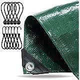Dekzeil 2x2 meter waterdicht - 150 g/m² groen, zeildoek met oogjes voor tentbodem - stoffen dekzeil - tentzeil - constructiez