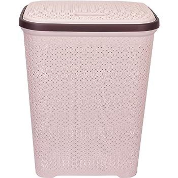 Polyset Plastic Laundry Basket, Beige