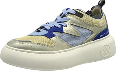 ARMANI EXCHANGE Super Flatform Wedge Low Top, Sneaker Donna