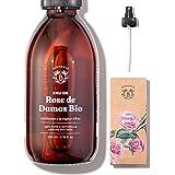 EAU DE ROSE BIO | Hydrolat de Rose de Damas 100% Pur & Naturel | Visage, Contour des Yeux, Corps, Cheveux | Rose Water | Bout