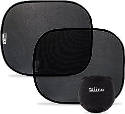 TALINU 2er-Set Kinder Sonnenschutz für Autoscheiben mit praktischer Aufbewahrungstasche und Saugnäpfen | Sonnenblende Auto Baby