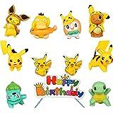 HONGECB Mini Pokémon Cijfers Taart Decoratie, Speelgoed Pikachu Figuur Set, Cijfers Party Taart Decoratie, Toepassen op Meisj