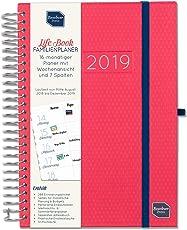 Boxclever Press 2018/19 Life Book Familienplaner. Akademischer A5 Familienplaner, Familienkalender. Terminplaner mit Spalten für 7 Personen. Laufzeit von September 2018 bis Dezember 2019.