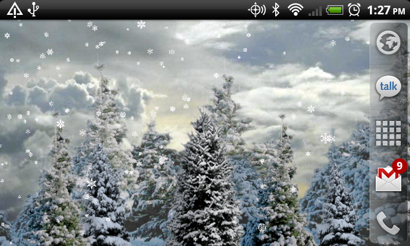 snowfall live wallpaper apps f r android. Black Bedroom Furniture Sets. Home Design Ideas
