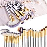 Pinceaux Maquillage, Vander Vie Pinceaux de maquillage Cosmetics Professional Essential 24pcs Kits de brosse de maquillage avec étui de voyage, Champagne