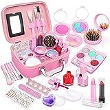 Dreamon Trucchi Bambina Set, Lavabile Makeup Realistico per Bambini con Valigia Cosmetica Giochi Regalo Bimba