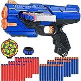 Pistole Giocattolo per Nerf Dardi, Pistole Giocattolo con 60 Dardi, Polsino e Bersaglio per Nerf Pistole, Pistola Blaster Reg
