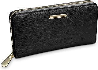 TRAVANDO ® Geldbörse Damen mit RFID Schutz Venice - Design Portemonnaie groß - 12 Kartenfächer - 3 Kammern - Kontinentalformat - Goldener Reißverschluss Frauen