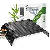 Zwart sofa dienblad van bamboe antislip | houten dienblad tafel als oplegger sofa kussen voor bank en zitmeubels | armleuning