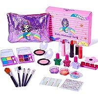 Yetech Set Trucco Lavabile per Bambini, 23 Pezzi Testati per la Sicurezza Kit di Cosmetici Veri per Bambini con Borsa a…