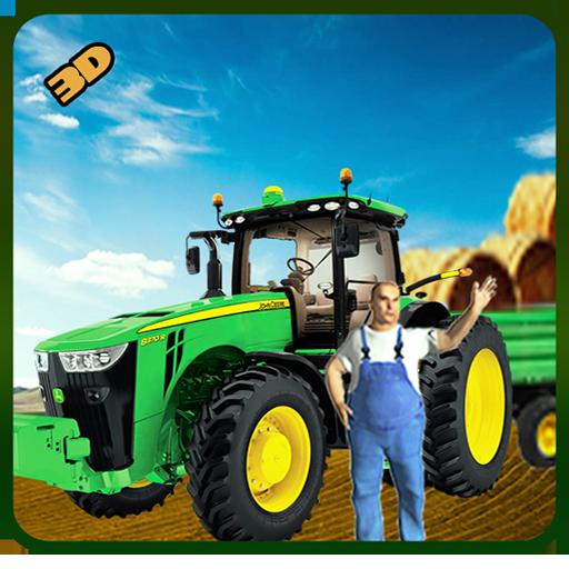Bauernhof Transport Traktor fahren