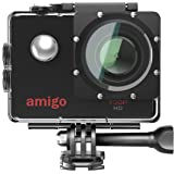 Amigo AC-11 HD Sports Action Camera with 12MP High Resolution Lens   720p HD Image with Wide Angle Lens and Waterproof…