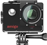 Amigo AC-11 HD Sports Action Camera with 12MP High Resolution Lens | 720p HD Image with Wide Angle Lens and Waterproof Upto 3