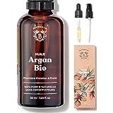 HUILE D'ARGAN BIO   100% Pure, Naturelle & Pressée à Froid   Visage, Corps, Cheveux, Barbe, Ongles   Vegan & Cruelty Free   A