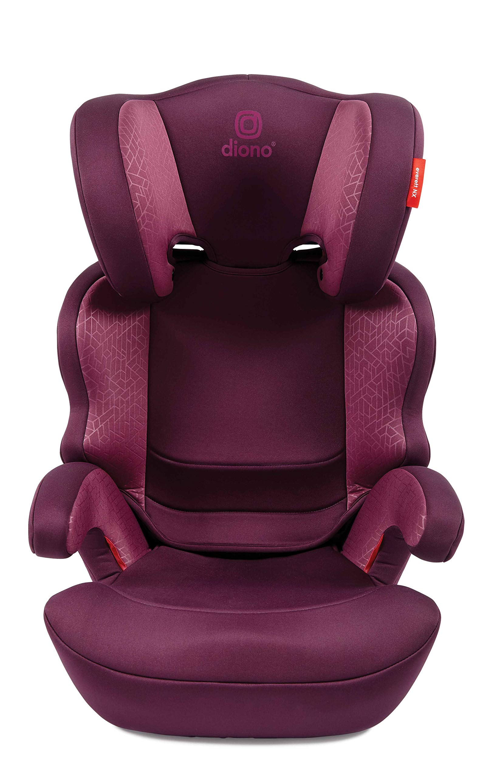 Diono Everett NXT Fix Highback Booster Seat - 7 Position Adjustable Headrest, Group 2/3 (15 - 36 kg and Up to 160 cm In Height), Approx. 4-12 Years, Plum Diono Designed to grow: group 2/3 car seat is suitable from 18kg - 50kg, approx. 4 to 12 years old. The 7-position adjustable headrest can be altered using the handle on the back of the seat Superior safety: cushioned side impact protection has been engineered and tested to the highest standards. The ergonomic design includes extra padding to provide comfort and security as a child grows Universal connectivity: parents can install the seat using the vehicle seatbelt or use the integrated rigid latch connectors that anchor the seat to the car allowing the child to buckle themselves in 3