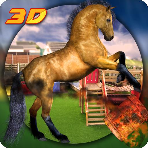 Crazy Horse City Rampage Abenteuer Spiel: Derby Quest Real Horse Racing Parkplatz Simulator Mission Kostenlos für Kinder 2018