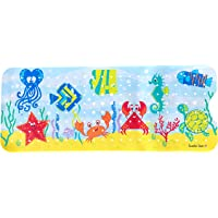 Scarlet Gem Ocean Scene Extra Long 100x40cm Non-Slip Bath and Shower Mat for Babies, Toddlers and Children