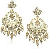 MEENAZ Jewellery Gold Plated Ear Rings for Girls in American Diamond Earrings for Women in Jewellery Necklace Earring Stylish