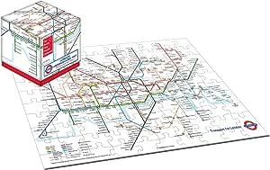 Robert Frederick RFS11355 100 PIECE JIGSAW PUZZLE-LONDON UNDERGROUND, In Cube Box, 30 x 10 x 4 cm