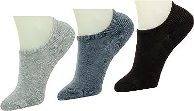 Neska Moda Men's & Women's Terry Cotton Multicolor 3 Pair Loafer Socks