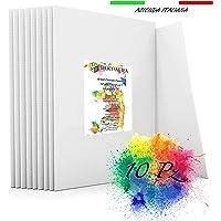 SUPVOX Porta Pennelli 20 Slot Artist Pennelli Roll Up Pen Case Canvas Pouch Bag Per Disegnare Penna Pennelli ad olio Acquerelli Forest Style