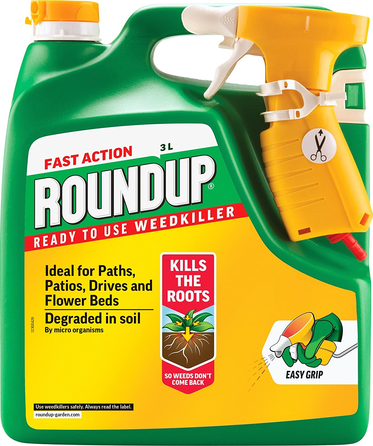 Spraying weeds in flower beds - Roundup Fast Action Weedkiller Spray Ready To Use 3 L Amazon Co Uk Garden Outdoors