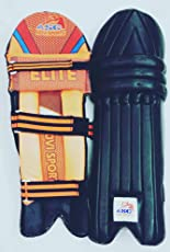 ASC - Advi Sports Elite Black Color Batting Leg Guard Right for 15+ Years Youth and Mens