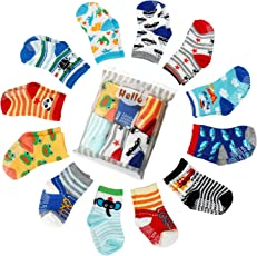 6er-pack Stoppersocken Kinder Baby ABS Socken, Anti Rutsch Socken für 0-24 Monate Baby Mädchen und jungen, von Future Founder
