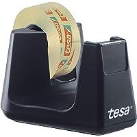 tesa Easy Cut Dérouleur de table Smart de ruban adhésif - équipé du Stop-Pad, noir, 1 x tesafilm transparent 10 m x 19…