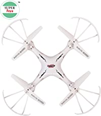 Plastic Super Toys Pioneer Drone with USB Charger and RC (White)