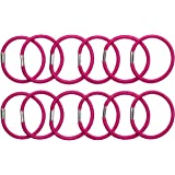 Amazon Brand - Solimo Women's Rubber Bands, Pink, Pack of 12