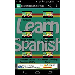 Learn spanish for kids videos amazon appstore for android m4hsunfo