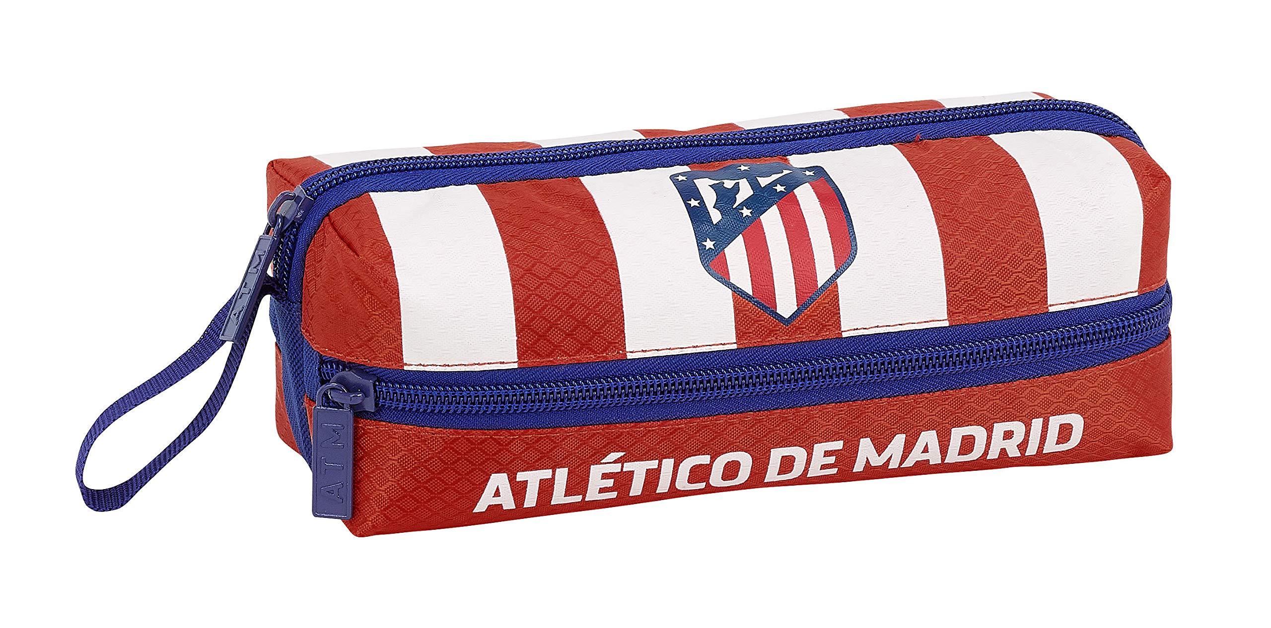 Atlético de Madrid Estuche portatodo Triple 3 Cremalleras Escolar.