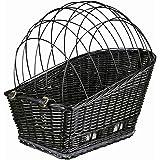 Trixie 13117 Fietsmand met rooster, 35 × 49 × 55 cm, zwart