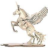 GuDoQi Puzzle 3D Legno, Modellini Unicorno da Costruire, Costruzioni Legno, Kit Fai da Te Creativo per Modellismo, Idee Regal