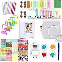 Leebotree 10 en 1. Accessoires pour Appareil Photo Instax Mini 9, Mini 8/8+, Le Package Comprend étui,Album, lentille, filtres, Cadres, Stylo et Autres (Blanc)